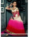Multicolor Shaded Georgette Anarkali Suit