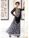 Enticing Zari Work Georgette Black Designer Gown