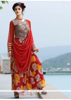 Zesty Georgette Resham Work Designer Gown