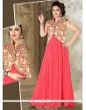 Refreshing Net Resham Work Hot Pink Designer Gown