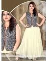 Net Off White Resham Work Designer Gown