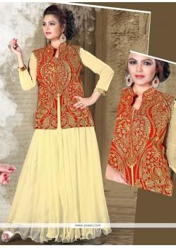 Transcendent Net Resham Work Designer Gown