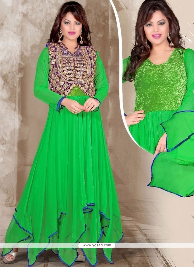 Surpassing Green Net Designer Gown