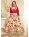 Divine Bhagalpuri Silk Patch Border Work Anarkali Salwar Kameez