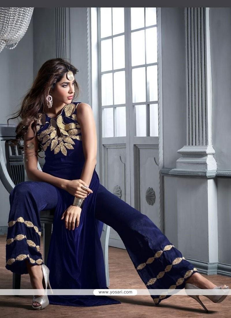 Aspiring Velvet Designer Palazzo Salwar Suit