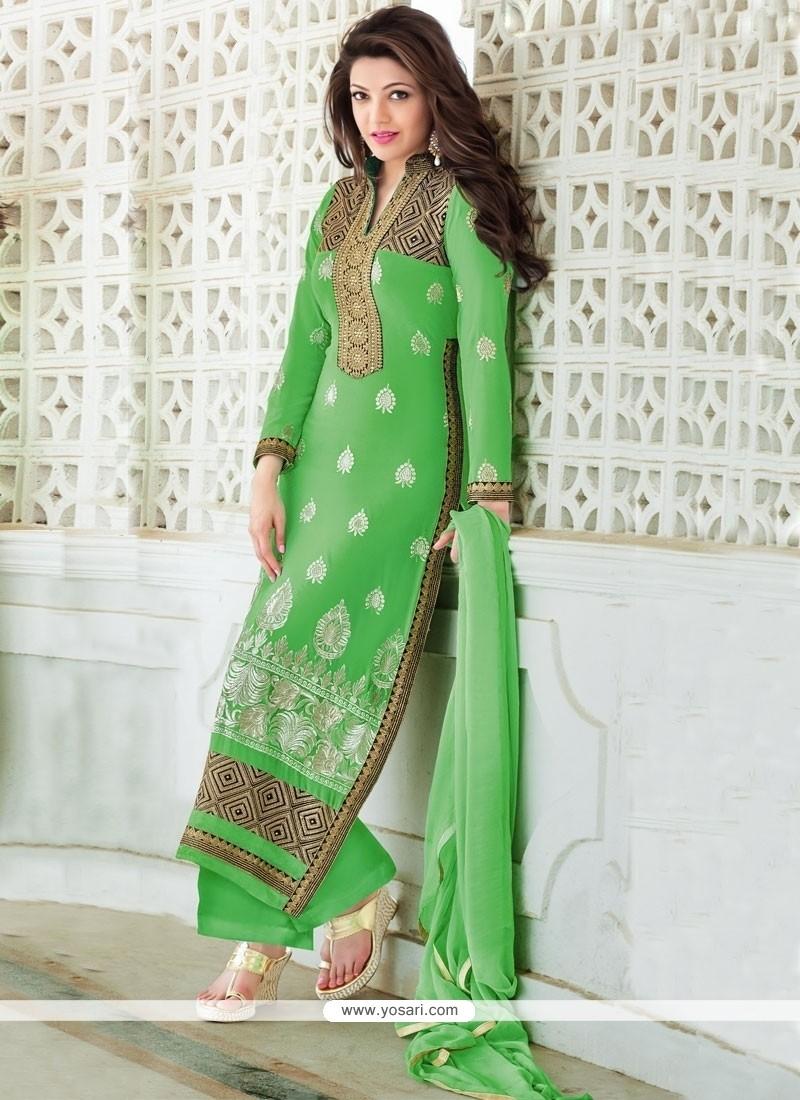Talismanic Georgette Resham Work Designer Palazzo Salwar Suit