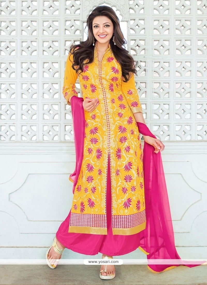 Superb Georgette Resham Work Designer Palazzo Salwar Suit