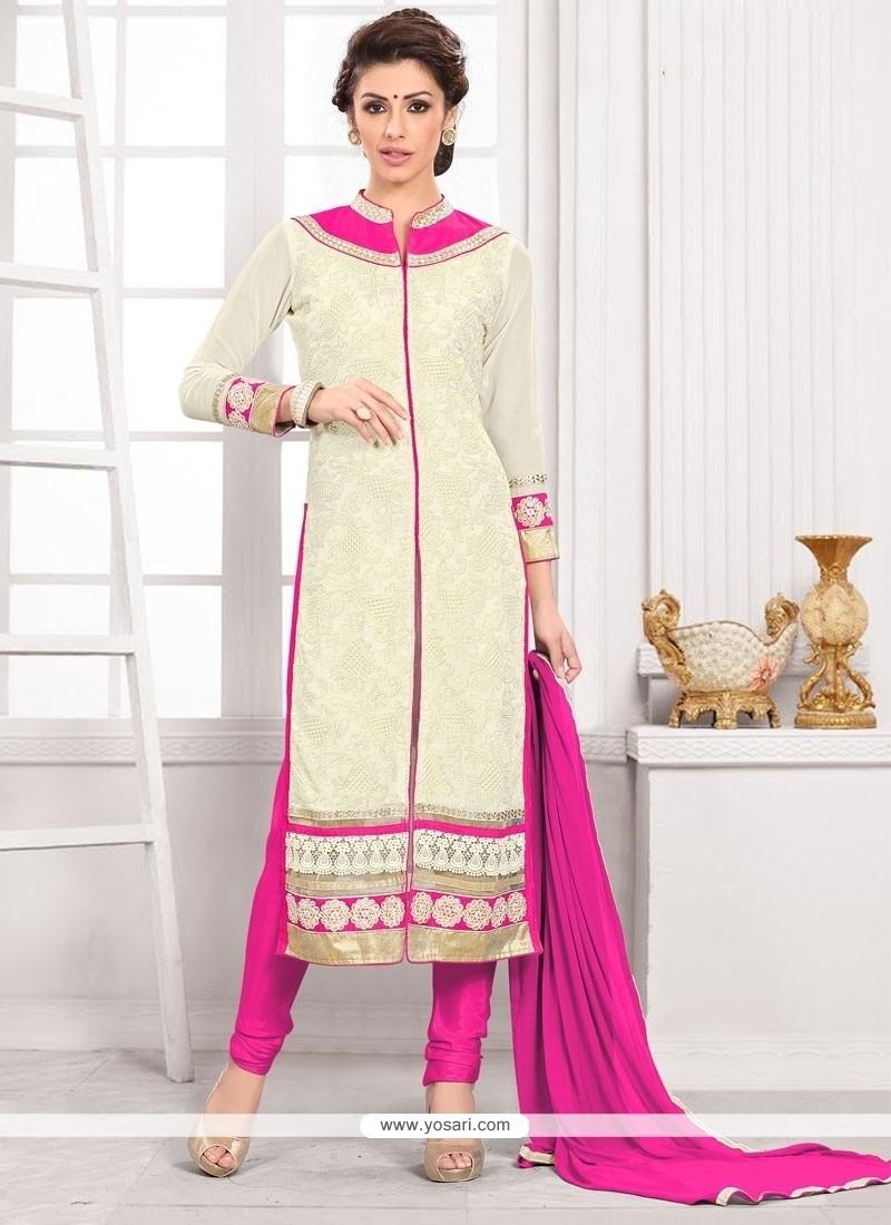 Sumptuous Embroidered Work Churidar Designer Suit