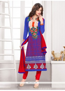 Absorbing Embroidered Work Churidar Designer Suit