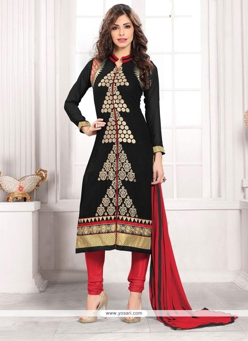 Adorable Georgette Resham Work Churidar Designer Suit