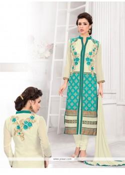 Modernistic Georgette Churidar Designer Suit