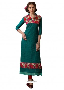 Adorable Chanderi Patch Border Work Churidar Designer Suit
