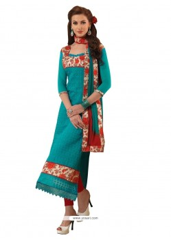 Striking Chanderi Churidar Designer Suit