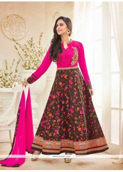 Attractive Bhagalpuri Silk Embroidered Work Anarkali Salwar Kameez