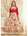 Divine Bhagalpuri Silk Patch Border Work Anarkali Salwar Kameez
