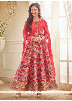 Regal Patch Border Work Anarkali Salwar Kameez