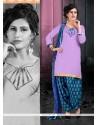 Sterling Violet Designer Patiala Suit