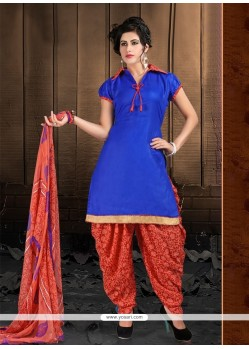 Sensational Cotton Lace Work Designer Patiala Suit