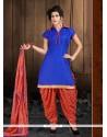 Sensational Cotton Lace Work Designer Patiala Suit