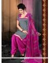 Captivating Lace Work Designer Patiala Suit