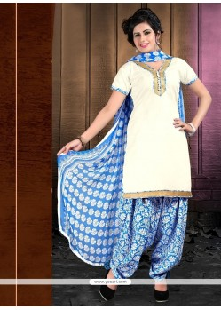 Honourable Cotton Lace Work Designer Patiala Suit