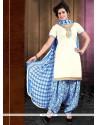 Honourable Cotton Lace Work Designer Patiala Suit
