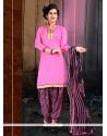 Gilded Lace Work Cotton Designer Patiala Salwar Kameez