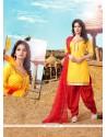Enticing Cotton Designer Patila Salwar Suit
