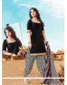 Mod Cotton Black Designer Patiala Salwar Kameez