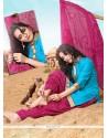 Nice Turquoise Lace Work Designer Patila Salwar Suit