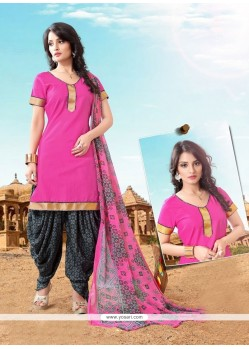 Floral Lace Work Cotton Designer Patila Salwar Suit