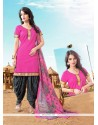 Floral Lace Work Cotton Designer Patila Salwar Suit