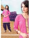 Aesthetic Pink Designer Patiala Suit