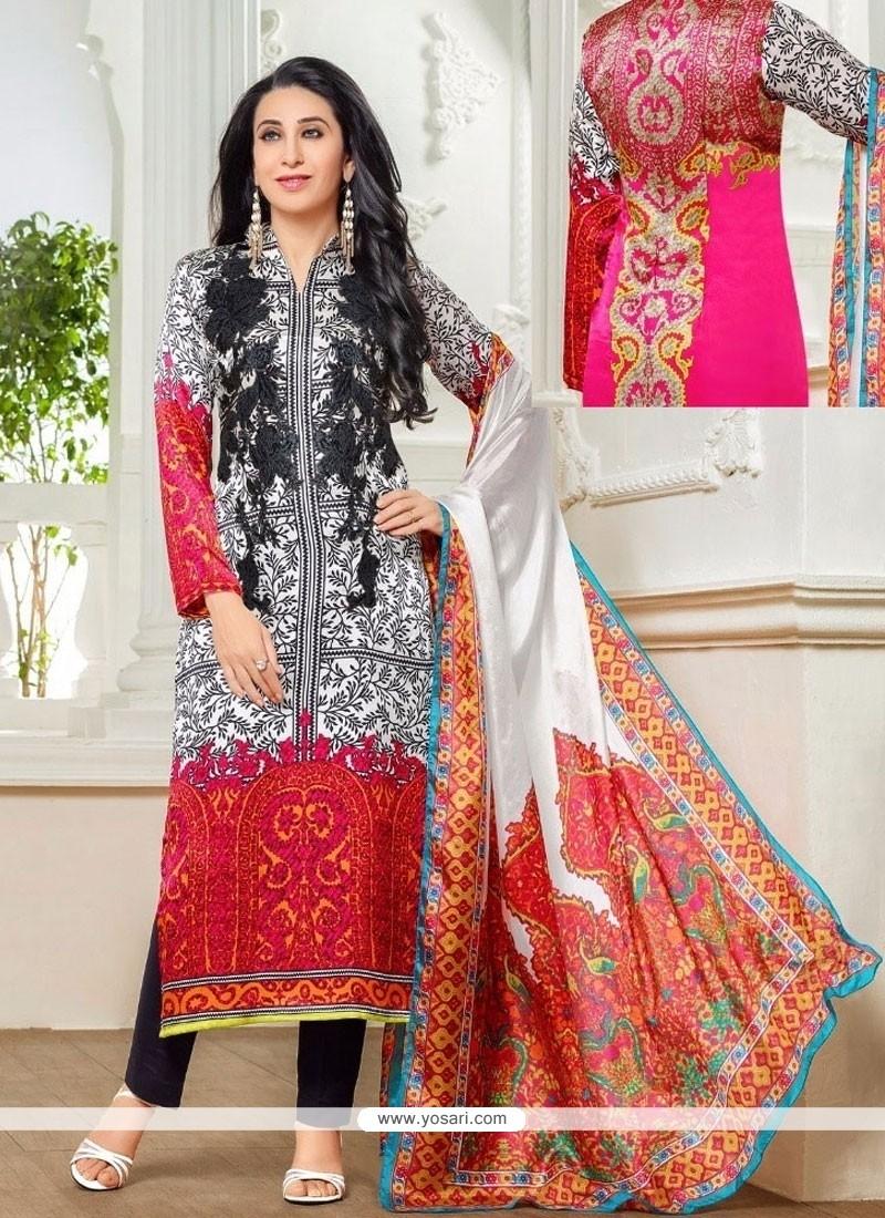 Karishma Kapoor Print Work Multi Colour Designer Suit