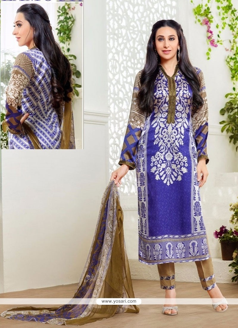 Karishma Kapoor Multi Colour Print Work Designer Suit