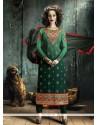 Sparkling Resham Work Georgette Designer Straight Salwar Suit