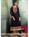Observable Georgette Resham Work Designer Straight Salwar Kameez
