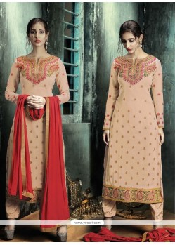 Lively Embroidered Work Designer Straight Salwar Suit