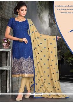 Genius Viscose Lace Work Churidar Designer Suit