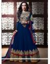 Shraddha Kapoor Blue Georgette Anarkali Suit