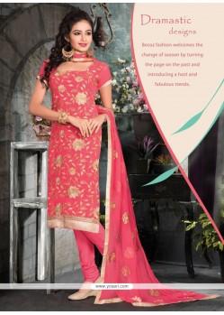 Elite Pink Churidar Designer Suit