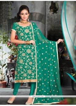 Prime Resham Work Viscose Churidar Salwar Suit