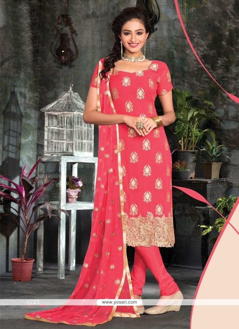 Especial Lace Work Churidar Designer Suit