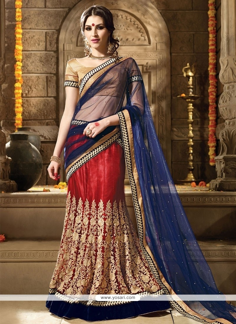 Affectionate A Line Lehenga Choli For Reception