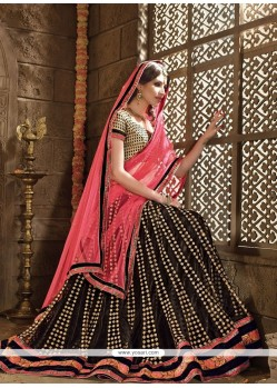 Outstanding Embroidered Work Net A Line Lehenga Choli