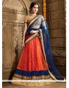 Enticing Net Orange A Line Lehenga Choli