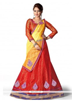 Monumental Red A Line Lehenga Choli