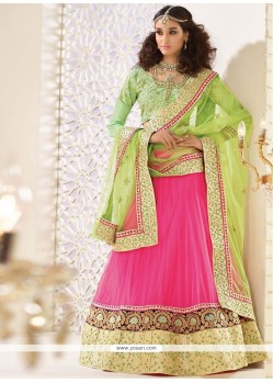 Prime Hot Pink A Line Lehenga Choli