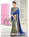 Impeccable Lace Work Designer Saree