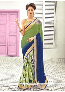 Classical Georgette Embroidered Work Designer Saree